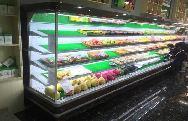 广州禅农生鲜连锁超市-风幕柜案例