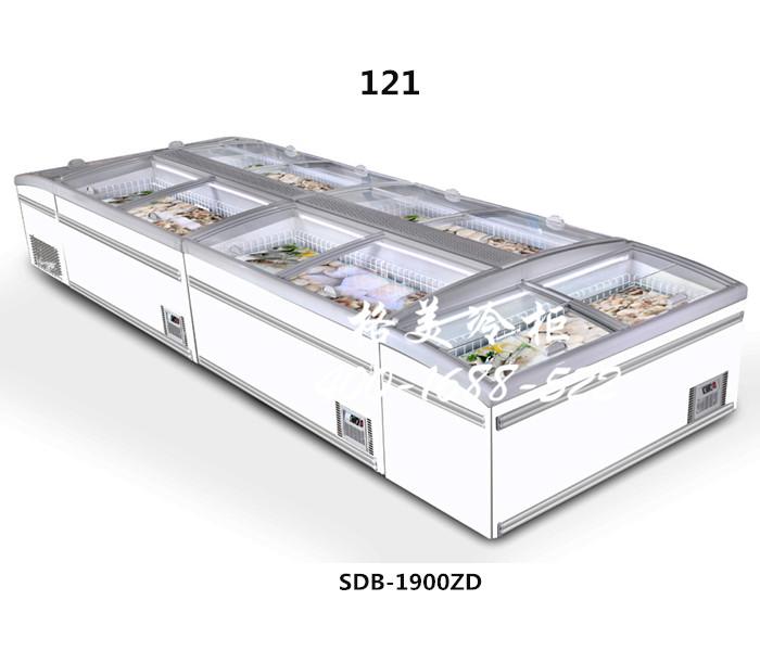 121超市组合式冷冻岛柜