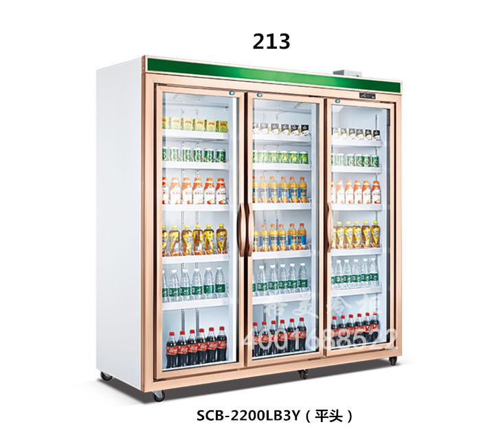213立式三门展示冷柜(豪华款)
